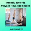 200 órás Intenzív Vinyasa Flow Jógaoktató képzés 2021. aug.5-től