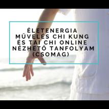 Életenergia művelés chi kung és tai chi online nézhető tanfolyam (csomag)