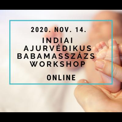 Indiai ajurvédikus babamasszázs workshop nov.14 - online