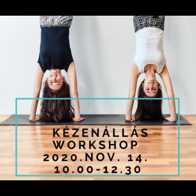 Kézenállás workshop - nov.14. 10.00-12.30 - offline