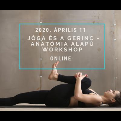 ONLINE Jóga és a gerinc  - anatómia alapú workshop  - 2020. április 11-