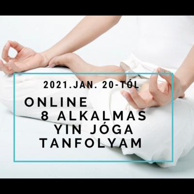 Online 8 alkalmas Yin jóga tanfolyam jan. 20-tól