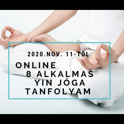 Online 8 alkalmas Yin jóga tanfolyam nov. 11-től